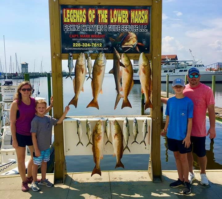 A picture of Gulfport MS In August Means Big Inshore Species with Legends of the Lower Marsh